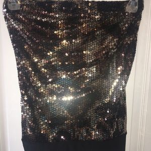 Strapless Leopard Sequin Top💛 Size XS